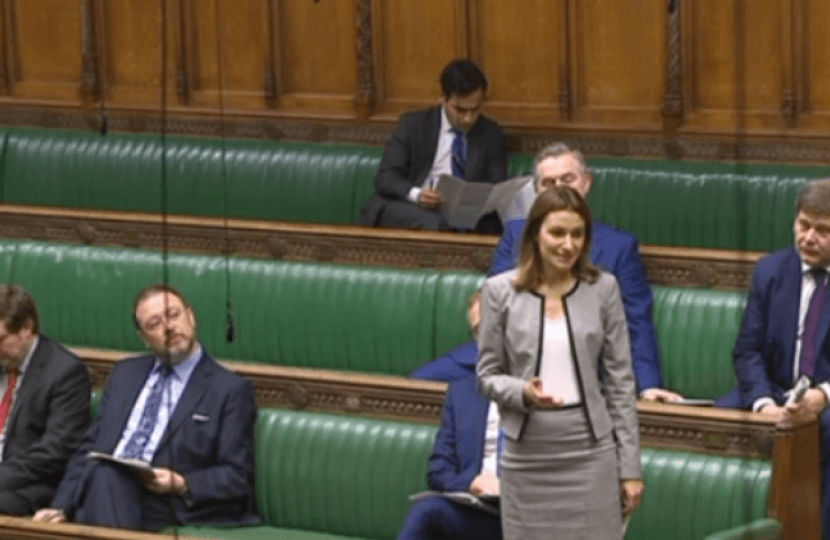 Lucy Frazer in Parliament